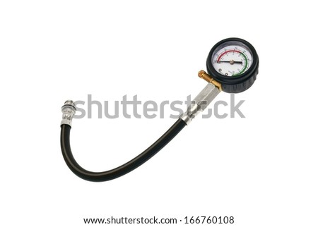 Measuring instrument of a compressi the automobile - stock photo