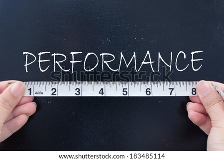 Measuring performance  - stock photo