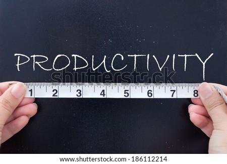 Measuring productivity  - stock photo