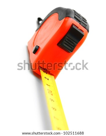 Measuring roulette. On a white background. - stock photo