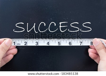 Measuring success  - stock photo