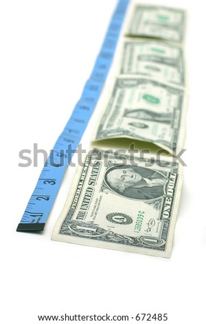 Measuring Tape and Dollar Bills