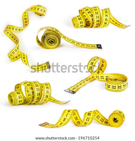 Measuring tape collection of the tailor for you design - stock photo
