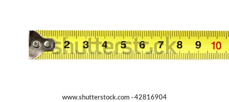 measuring tape fragment - stock photo