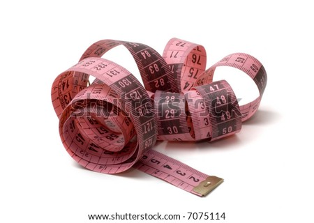 measuring tape isolated on a white