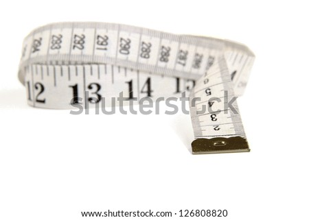 Measuring Tape , isolated on white background - stock photo