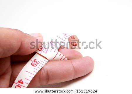 Measuring tape of the tailor for you design