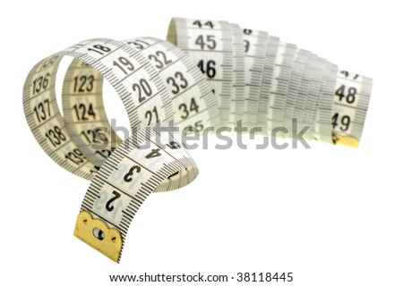 Measuring tape of the tailor white color
