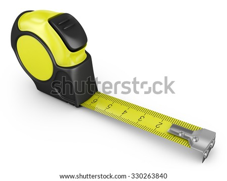 measuring tape on a white background, 3d render