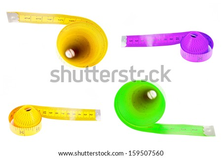 Measuring tape wrapped - stock photo