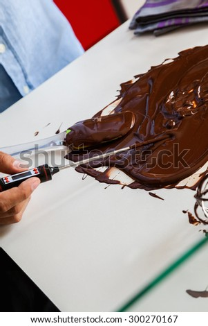 Measuring Temperature Of Melted Chocolate