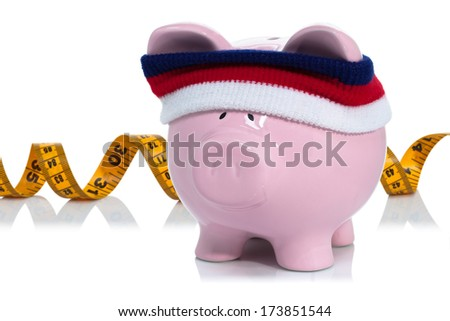 Measuring your savings you have been working on - stock photo