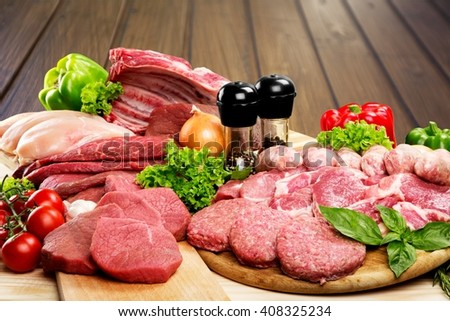 Meat. - stock photo