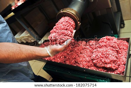 meat and grinder close up
