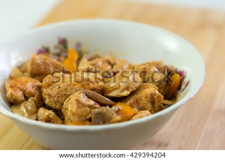 meat and vegetables on dish