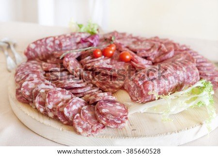 Meat Appetizers and finger food - stock photo
