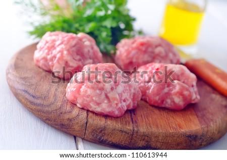 meat balls - stock photo