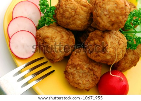 Meat balls in detail