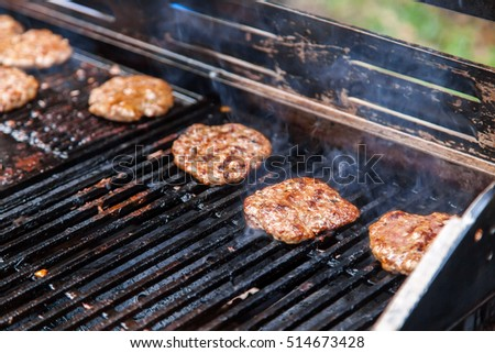 Meat for burgers, grilling, barbecue, bbq. Fresh on starve