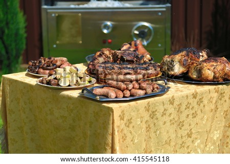 Meat grill - stock photo