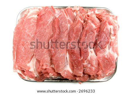 meat isolated on white