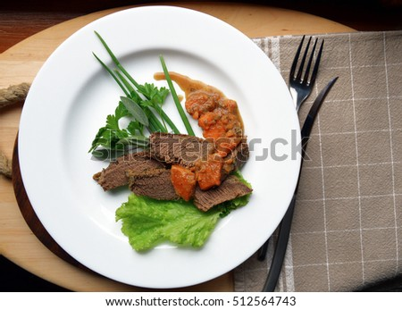 meat on a plate