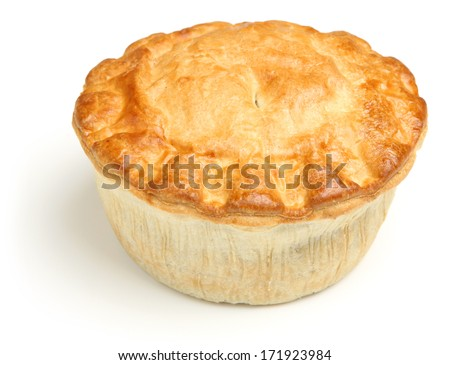 Meat pie isolated on white background - stock photo