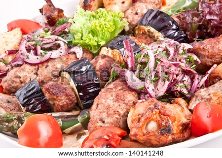 Meat plate - stock photo