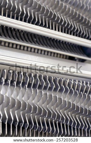 Meat processing blades - stock photo