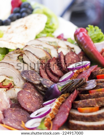 Meat products with hot pepper