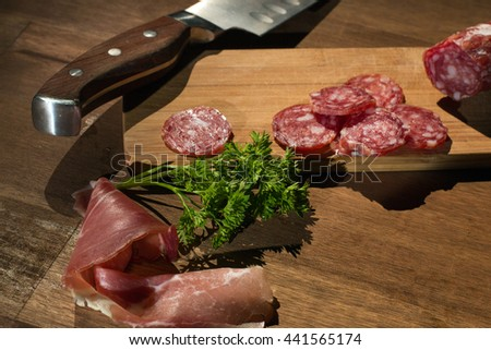 meat productsd - stock photo