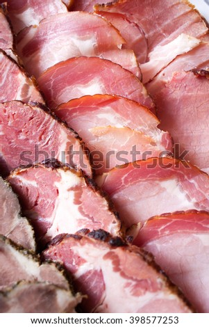 Meat slices detail