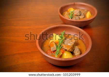 meat stew with potatoes