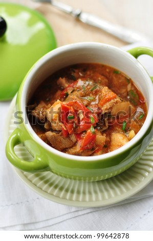 meat stew with rice