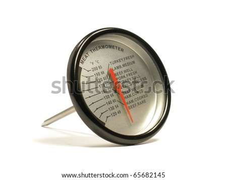 meat thermometer on the white isolate background