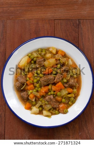 meat with vegetables in dish