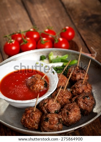 Meatball Appetizers - stock photo