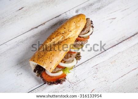 meatball sandwich - stock photo