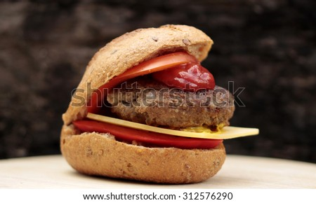 Meatball sandwiches - stock photo