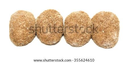 meatballs, burger, hamburger patties isolated on white background