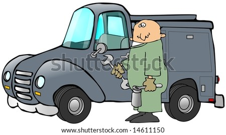 Mechanic And His Truck