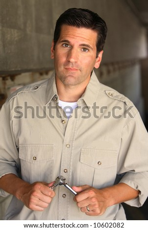 Mechanic with Problem - stock photo