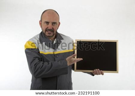 mechanical blackboard - stock photo