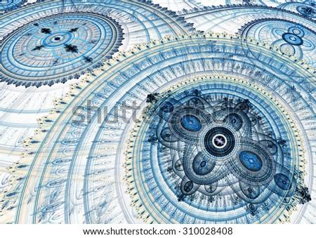 Mechanical clockwork - abstract steampunk design - stock photo