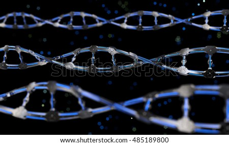 Mechanical DNA Structure Abstract Background II. 3D illustration