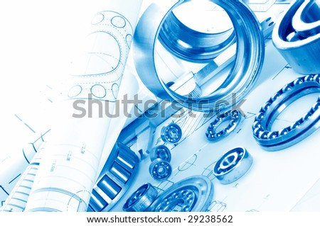 mechanical drawing and tools/ bearing