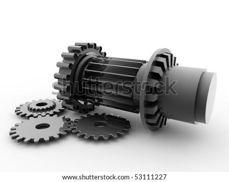 mechanical parts - stock photo