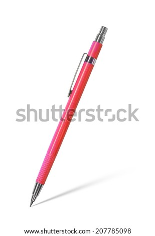 Mechanical pencil on white background - stock photo