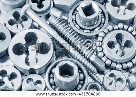 Mechanical ratchets closeup - stock photo