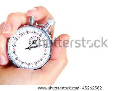 Mechanical stopwatch. Isolated over white background